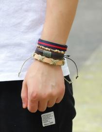 Vintage Multicolor Hand-woven Decorated Bracelet (4pcs)