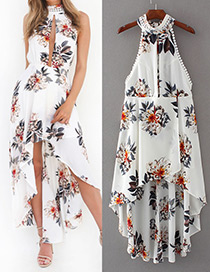 Sexy White Off-shoulder Decorated Dress