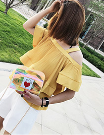 Fashion Multi-color Heart Shape Pattern Decorated Simple Shoulder Bag