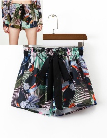 Fashion Multi-color Bowknot&flower Decorated Simple Shorts