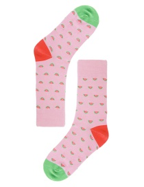 Lovely Multicolor Watermelon Pattern Decorated Socks