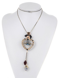 Fashion Multicolor Heart Shape Decorated Long Necklace