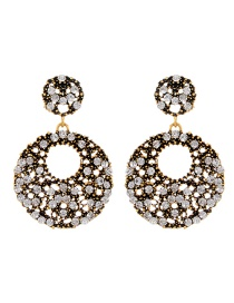 Exaggerate Gold Color Hollow Out Decorated Earrings