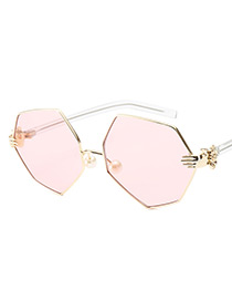 Fashion Pink Palm Shape Decorated Glasses