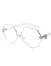Fashion White Palm Shape Decorated Glasses