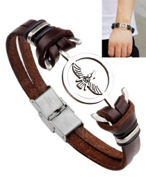 Fashion Brown Eagle Shape Decorated Bracelet
