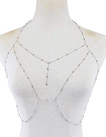 Fashion Silver Color Pure Color Decorated Body Chain