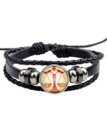Fashion Black Libra Pattern Decorated Multi-layer Bracelet