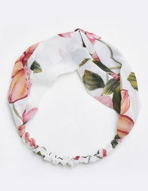 Fashion White Flower Pattern Decorated Hair Band