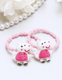 Lovely Pink Little Pigs Decorated Hair Band(2pcs)