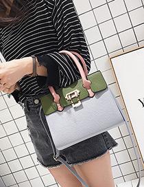 Elegant Light Gray Color-matching Decorated Bag