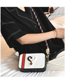 Fashion White Heart Shape Pattern Decorated Shoulder Bag