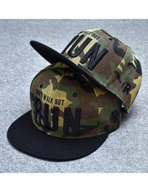 Trendy Olive Letter Pattern Decorated Hip-hop Cap(adjustable)