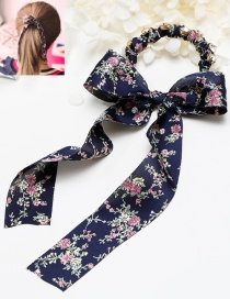 Lovely Navy Bowknot Shape Decorated Hair Clasp