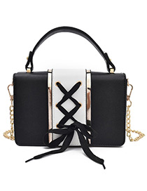 Lovely Black Bowknot Decorated Shoulder Bag