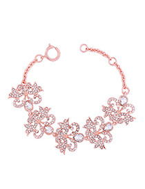 Lovely Rose Gold Hollow Out Decorated Bracelet