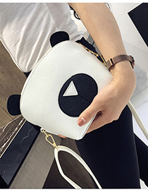 Cute White Panda Shape Decorated Bag