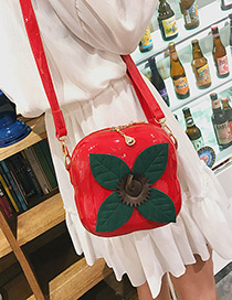 Personality Red Persimmon Decorated Shoulder Bag