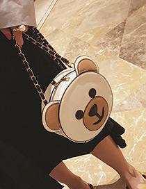Lovely White Bear Shape Decorated Shoulder Bag