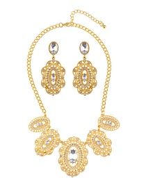 Luxury Gold Color Pure Color Decorated Jewelry Sets
