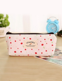 Fashion Pink Flower Shape Decorated Pencil Case