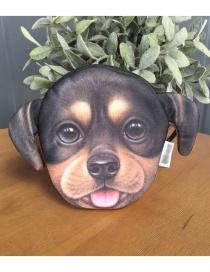 Lovely Black Dog Shape Decorated Pencil Case