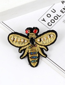 Elegant Yellow Bee Shape Decorated Brooch