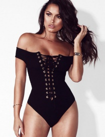 Sexy Black Hollow Out Decorated Jumpsuits