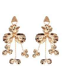 Luxury Gold Color Pure Color Decorated Earrings