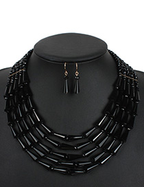 Fashion Black Water Dropr Decorated Jewelry Set