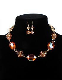 Fashion Orange Ball Shape Decorated Jewelry Set
