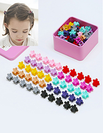 Fashion Multi-color Flower Shape Decorated Hair Clip (50 Pcs)