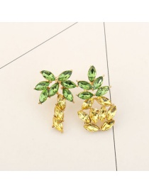 Fashion Yellow Banana Pendant Decorated Asymmetric Earrings