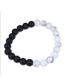 Fashion White+black Pure Corlor Decorated Bracelet