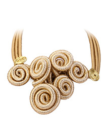Fashion Gold Color Pure Color Decorated Necklace
