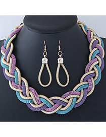 Trendy Multi-color Color Matching Decorated Jewelry Sets
