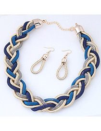 Trendy Multi-color Color Matching Decorated Hand-woven Jewelry Sets