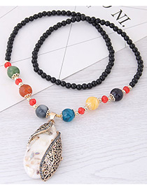 Fashion White Water Drop Shape Pendant Decorated Necklace