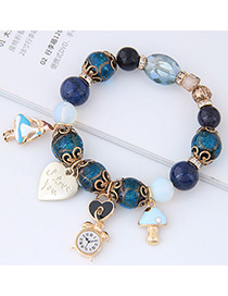 Fashion Dark Blue Girl&heart Shape Decorated Bracelet