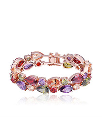 Fashion Multi-color Oval Shape Decorated Bracelet