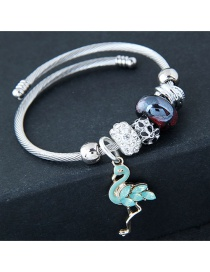 Fashion Blue+silver Color Flamingo Shape Decorated Braclet