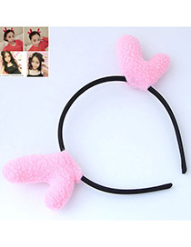 Fashion Pink Elk Ears Shape Decorated Headband