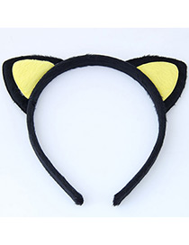Fashion Yellow Cat Ear Shape Decorated Heandband