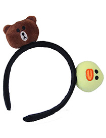 Fashion Brown+light Yellow Bear&chicken Shape Decorated Headband