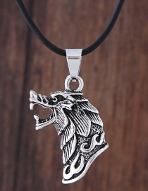 Fashion Silver Color Wolf Shape Decorated Necklace