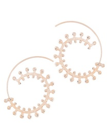 Persoanlity Gold Color Pure Color Decorated Earrings
