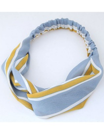 Fashion Yellow+blue Stripe Pattern Decorated Headband