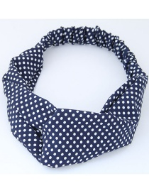 Fashion White+blue Spot Pattern Decorated Headband
