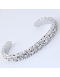 Fashion Silver Color Star Pattern Decorated Bracelet