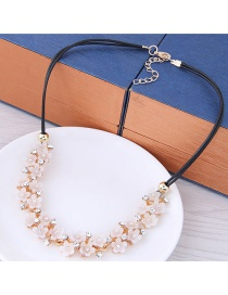 Fashion White Flowers Decorated Simple Necklace